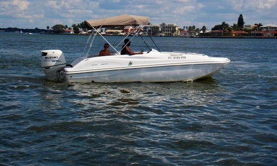 19' Hurricane Sundeck Boat Rental In St. Pete Beach, Florida