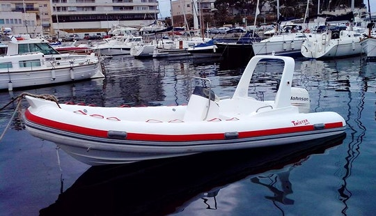 Rent 17' Rigid Inflatable Boat In Girona, Spain