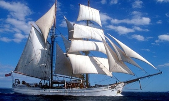 Tall Ship Sails On Sydney Harbour