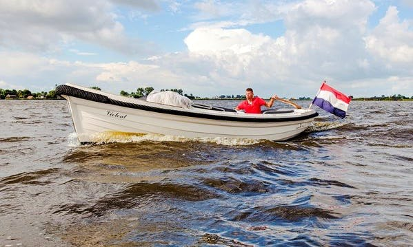 Hire 18' Canal Boat in Friesland, Netherlands