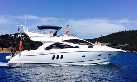 Explore Comino, Malta On A 53' Sunseeker Manhattan 50