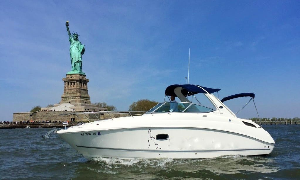 Experience New York Harbor on Sea Ray 280 Sundancer with Captain Michael