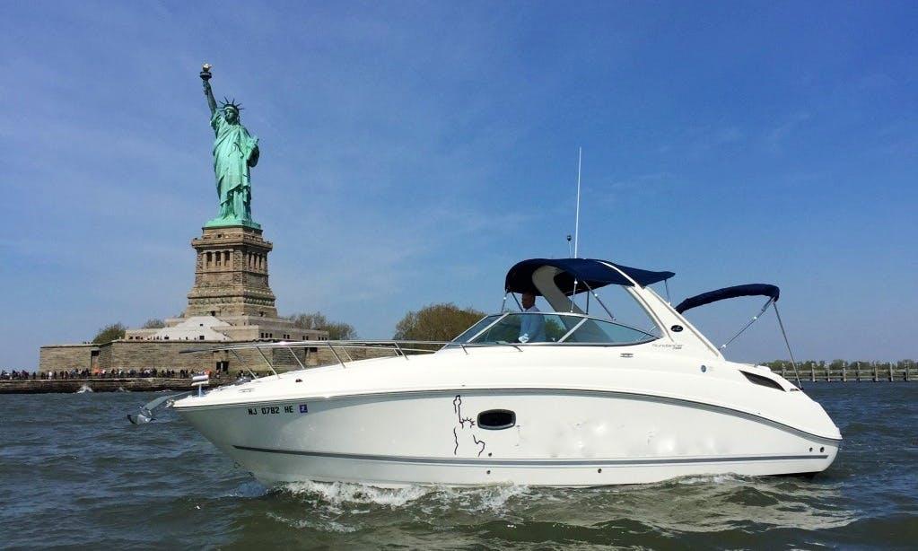 Experience New York Harbor on Sea Ray 280 Sundancer with Captain Michael