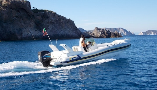 Discover Ponza Island On Marlin 23 Rigid Inflatable Boat