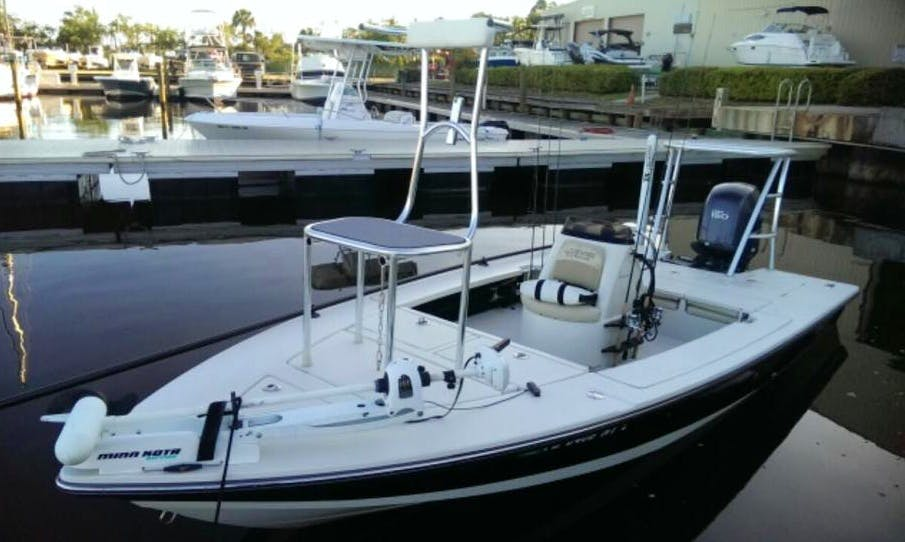 Enjoy Fishing in Jacksonville Beach, Florida on 18' Center Console