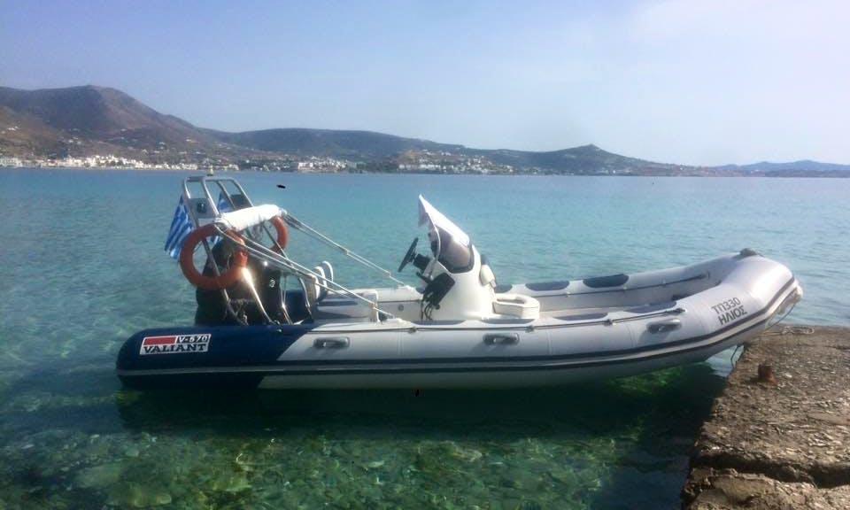 19' Valiant RIB Rental in Paros, Greece