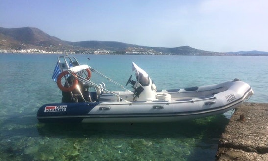Valiant 115 Hp Rib Rental In Paros, Greece
