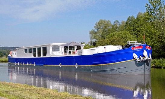 Explore St-julien-sur-dheune, France On 128' Finesse Canal Boat