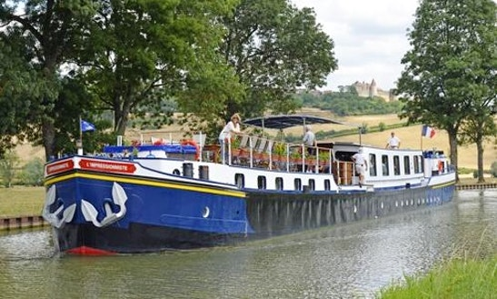 Explore Fleurey-sur-ouche, France On 128' L'impressionniste Canal Boat