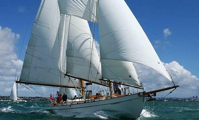 """Sailing Charter On 67ft """"Arcturus"""" Alden Schooner In Auckland, New Zealand"""