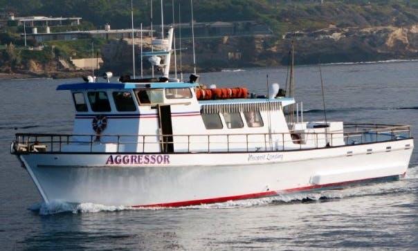 """47 Person Fishing Boat """"Aggressor"""" in Newport, CA,"""