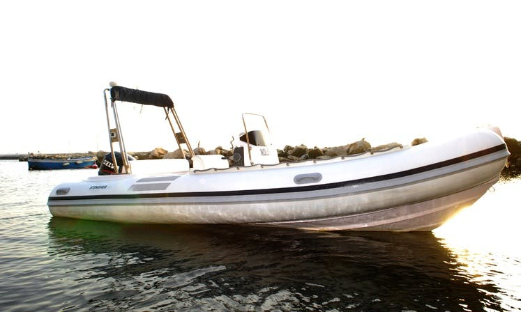 20' Stingher Rigid Inflatable Boat Rental In Monte di Procida, Italy