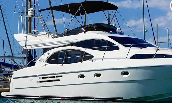 Explore Larnaca, Cyprus by 49' Motor Yacht