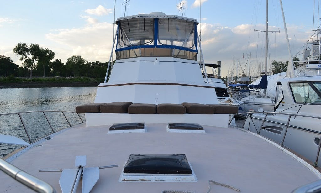 Charter this 48' Egg Harbor Motor Yacht in Stamford, Connecticut