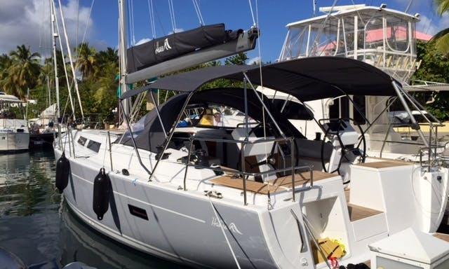 """45' """"Valhalla"""" Hanse Sailing Yacht Charter in Tortola, British Virgin Islands"""