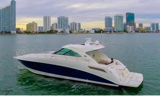 Charter The 55' Searay Motor Yacht In Miami, Florida