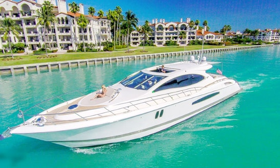 75' Lazzara Power Mega Yacht Charter In Miami, Florida