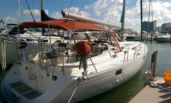 41' Beneteau Sailing Yacht Charter (lessons available) in Miami, Florida