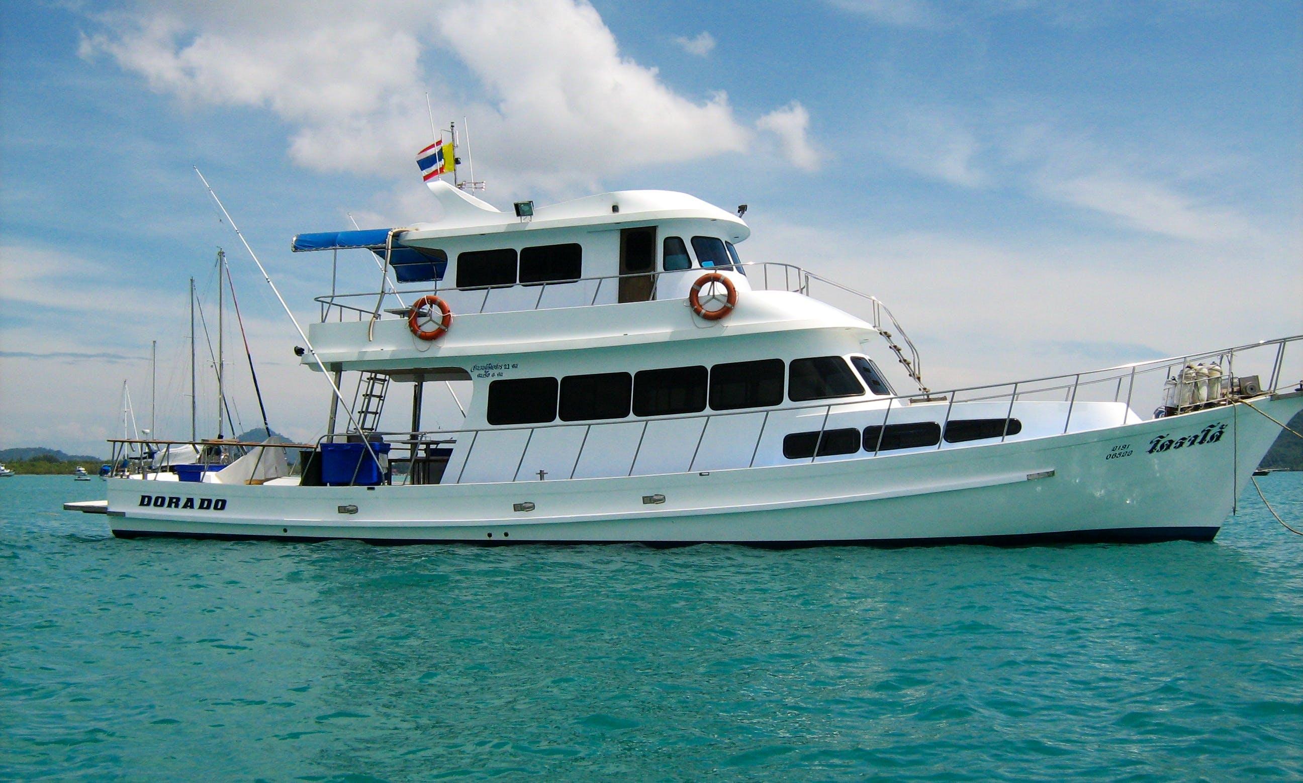 Thai sportfishing yacht for live aboard trips in Phuket
