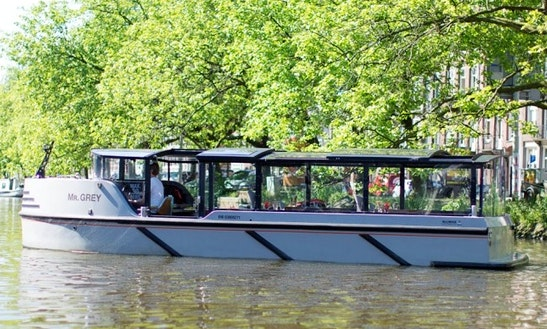 Rent Electric Boat Mr. Grey In Amsterdam, Netherlands