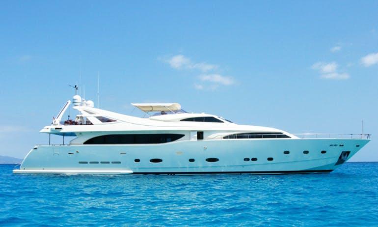 112ft Ferretti Power Mega Yacht Charter in Ibiza, Spain