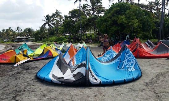 Kiteboarding On Cas En Bas Beach, Gros Islet
