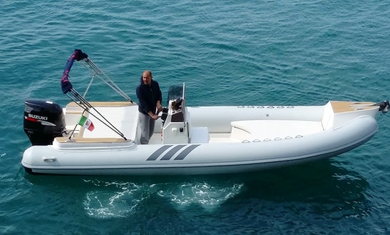 Rent Inflatable Nadir 700 Powerboat In Porto Santo Stefano, Toscana