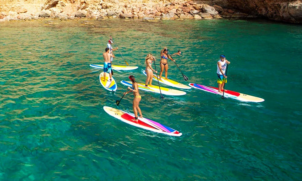 Enjoy Stand Up Paddleboarding Tours in Balearic Islands, Spain