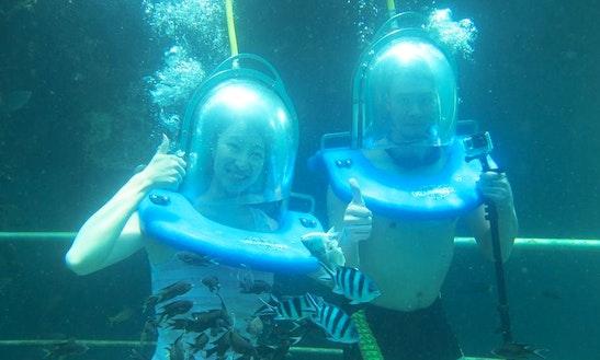 Enjoy Sea Walker Trips In Kota Kinabalu, Sabah