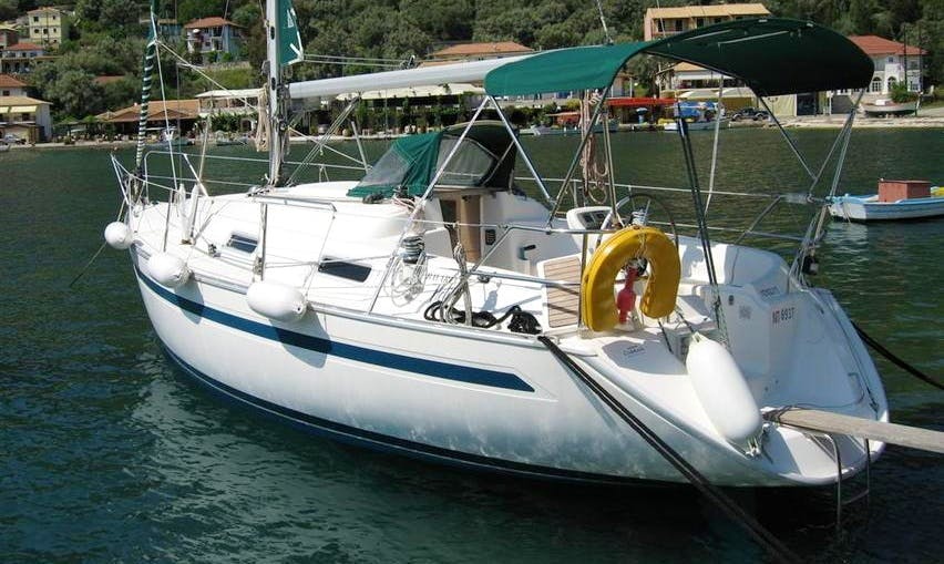 Bavaria 32' sailing in Lefkada, Greece