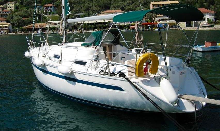 Bavaria 32' sailing in Lefkada, Greece