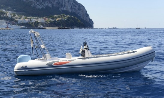 Rent 19' Rigid Inflatable Boat D570 In Sorrento, Italy