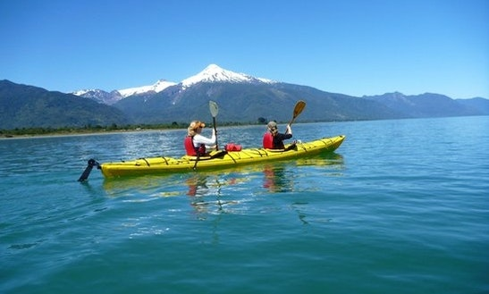 Sea Kayaking On Reloncavi Estuary In Chile
