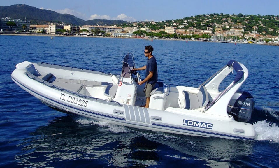 Rent 22' Rigid Inflatable Boat in Hyères, France