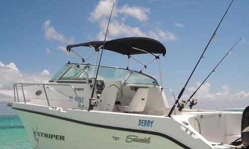 "Bora Bora Fishing Charter On 22ft ""Debby"" Striper Boat"