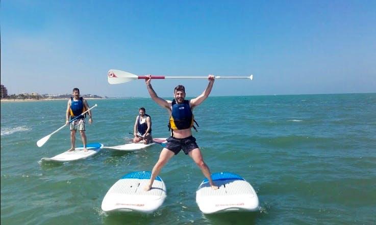 Stand Up Paddle Surfing in Sanlúcar de Barrameda, Cadiz