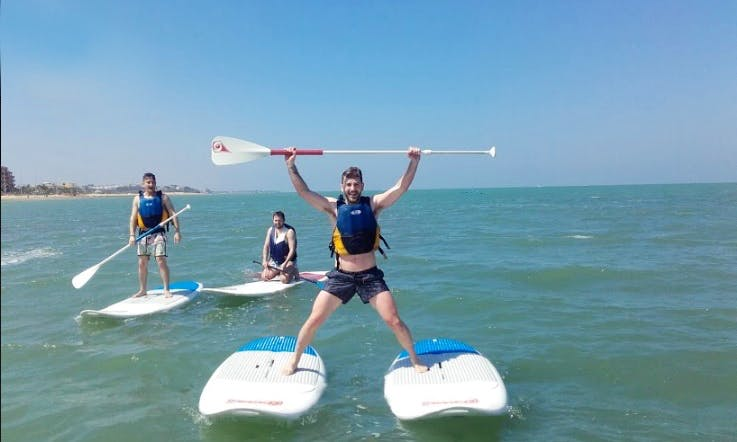 Stand Up Paddle Surfing in Sanlúcar de Barrameda, Cadiz