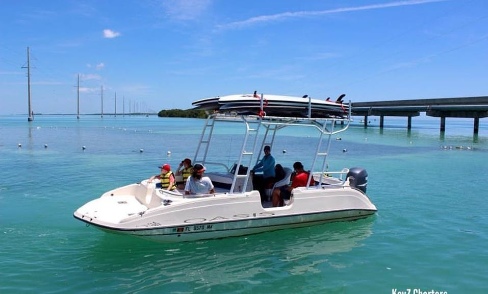 Florida Keys Adventure On 21' Deck Boat With Captain Samantha