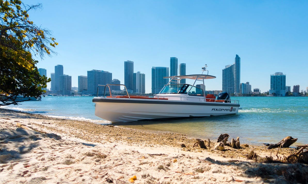 2015 Axopar 28 TT Center Console Rental in Miami, Florida (With Captain)