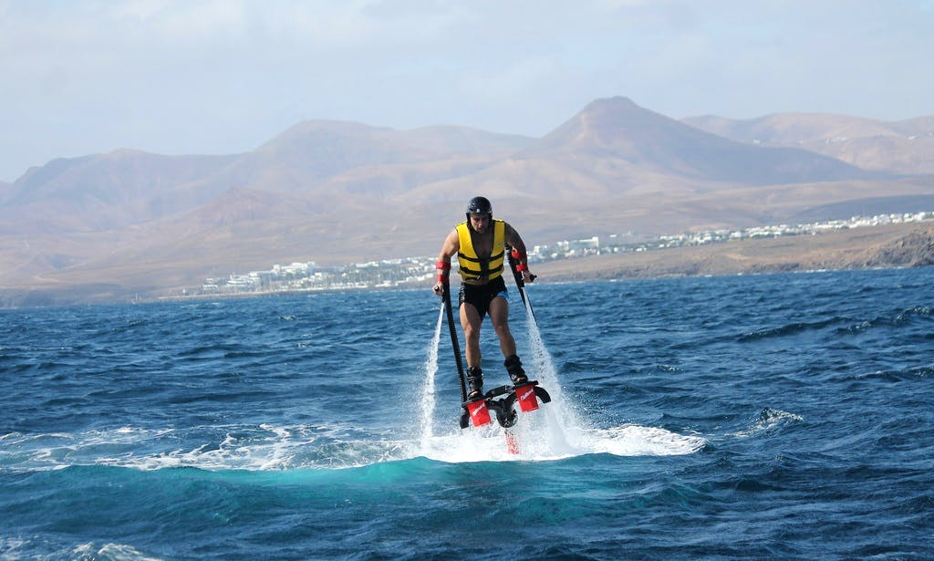 Exciting Flyboarding in Playa Chica, Puerto del Carmen