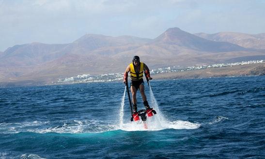 Exciting Flyboarding In Playa Chica, Puerto Del Carmen