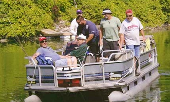 Enjoy Fishing In Ontario, Canada On 21' Pontoon