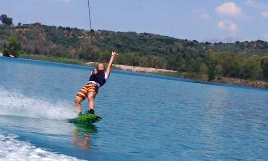 Enjoy Wakeboarding Lessons At Monastiri Beach, Paros