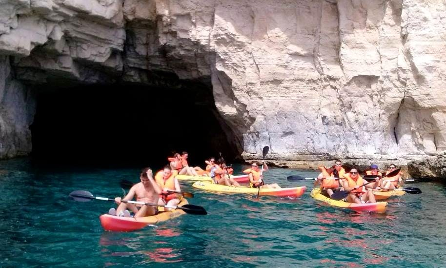 4 Hours Double Kayak Rental in Las Negras, Spain