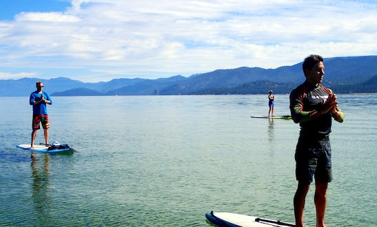 Paddle Board Yoga In South Lake Tahoe