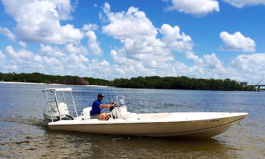 Fishing Charter On 22' Sea Chaser Hybrid Boat In Fort Myers Beach, Florida