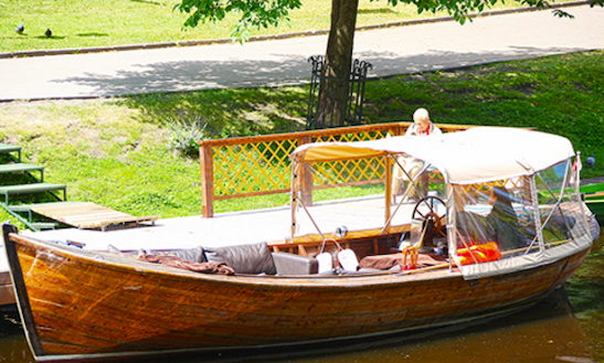 Rent Kate Canal Boat In Riga, Latvia