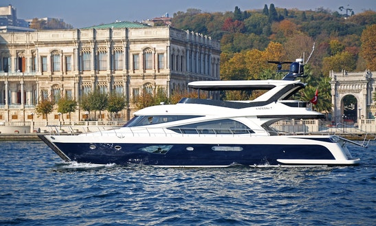 Charter 72' Power Mega Yacht In İstanbul, Turkey