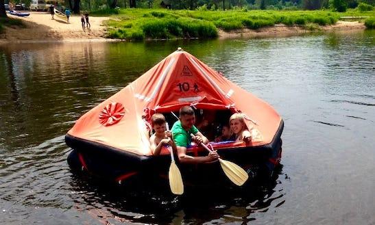 Enjoy Raft Rental In Jaunzāģeri, Latvia