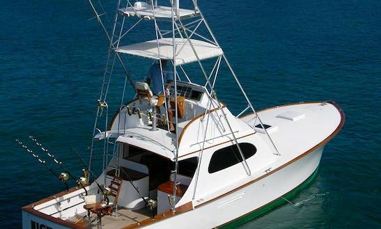 40ft Sport Fisherman Fishing Boat In North Kona, Hawaii